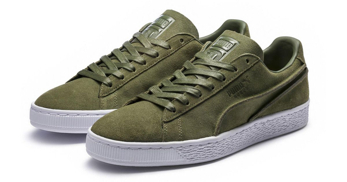 c48a31d5619b1 PUMA Suede Classic Exposed Seams Sneakers in Green for Men - Lyst