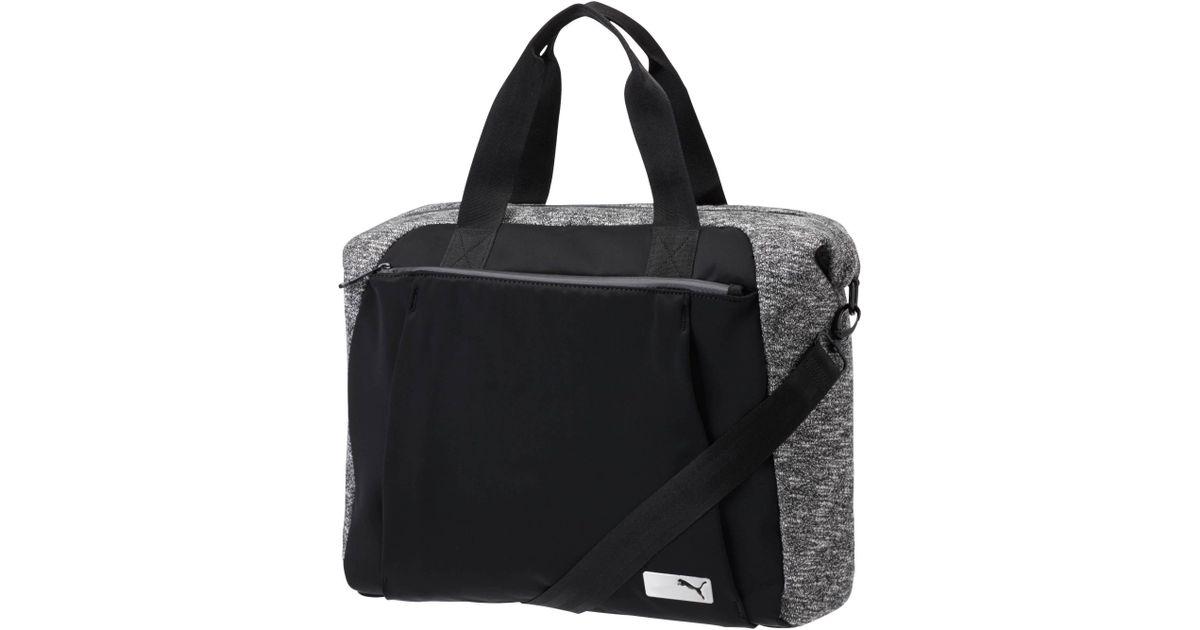 3b946a92593 PUMA Lifestyle Yoga Bag in Black - Lyst