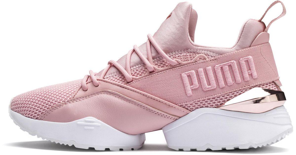 Nouvelles Arrivées eb984 0a9dc PUMA Pink Muse Maia Metallic Rose Wns Shoes - Size 9w for men