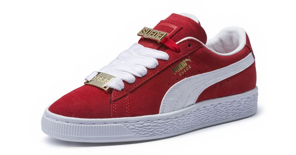 a264474228469f Lyst - PUMA Suede Classic B-boy Fabulous Junior Sneakers in Red for Men