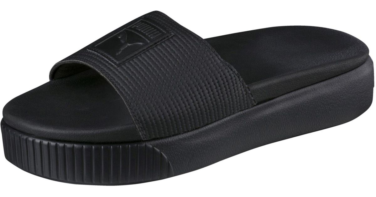 b9ee124abe1 Lyst - PUMA Platform Slide Ep Women s Sandals in Black
