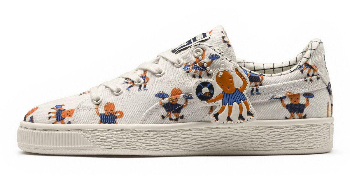 bffb307aaa PUMA White X Tinycottons Basket Jr Sneakers