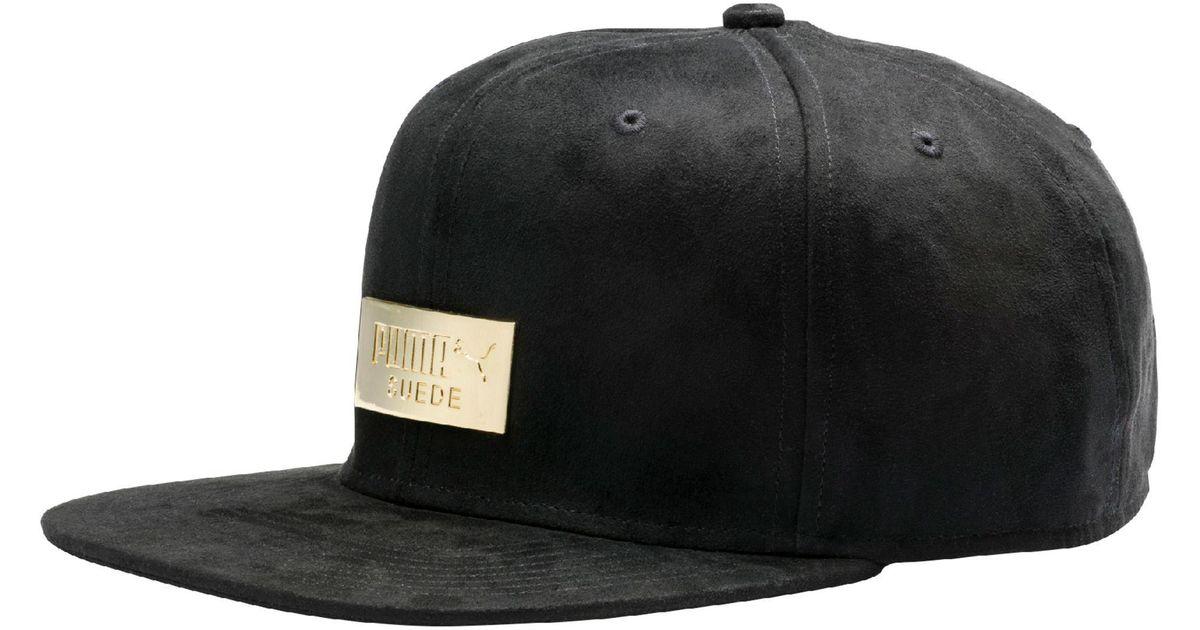 4c31406896f Lyst - PUMA Suede Premium Hat in Black for Men