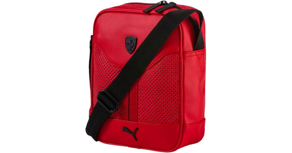 dba4ebfdbf2a Lyst - PUMA Ferrari Portable Bag in Red for Men