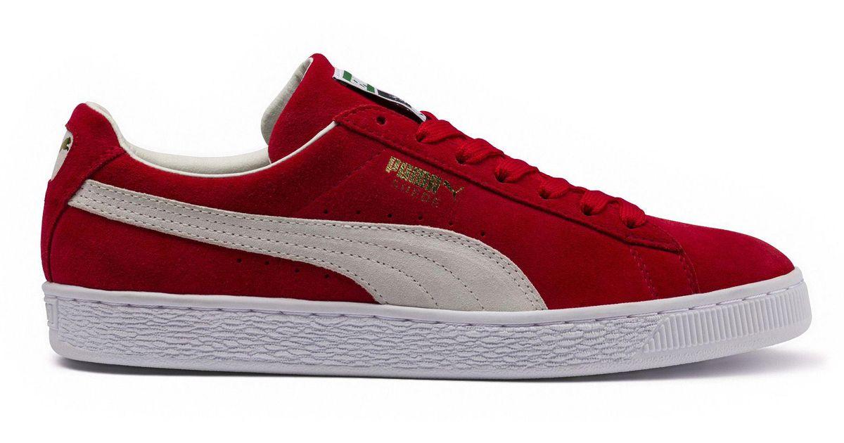 best website d1831 b8ce2 PUMA - Red Suede Super Men's Sneakers for Men - Lyst