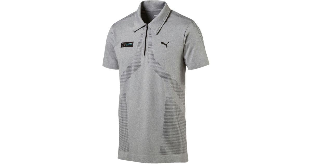 69981e962 PUMA Mercedes Amg Petronas Evoknit Polo in Gray for Men - Lyst