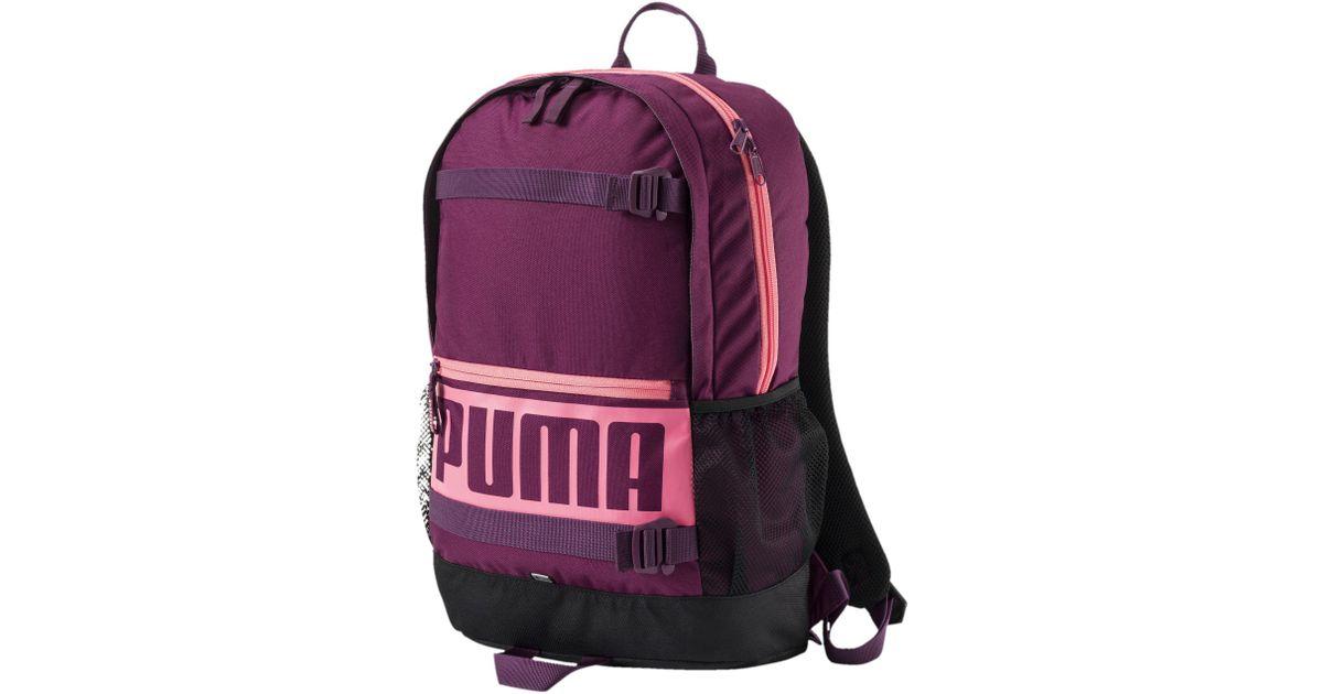 2b936519c2d1 Lyst - PUMA Deck Backpack in Purple