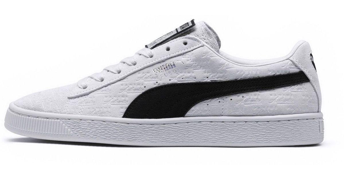Lyst - PUMA X Panini Suede Classic Sneakers in White 8732ec6fa