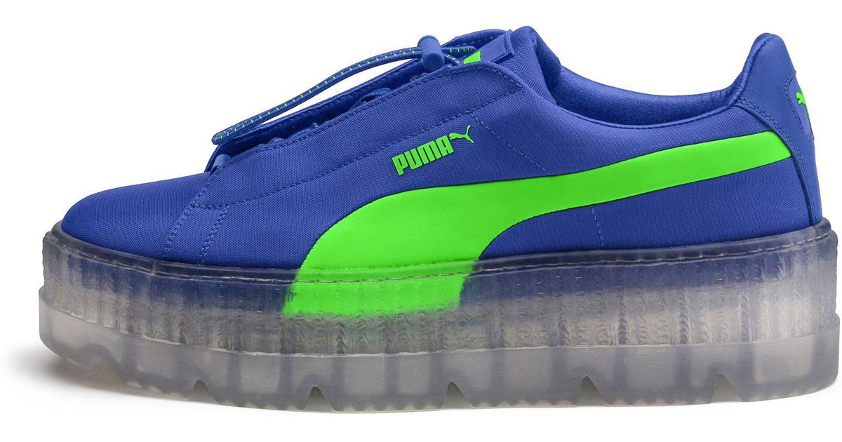 Lyst - PUMA Fenty Women s Cleated Creeper Surf in Blue 4e00c9244e