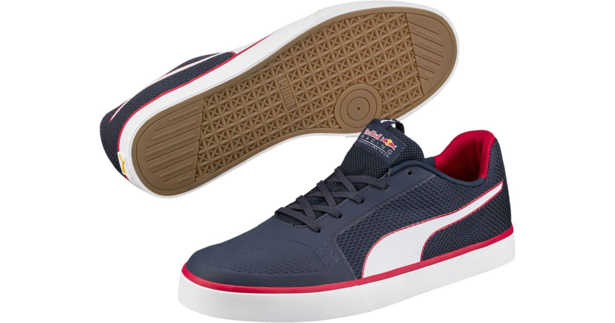 PUMA RED BULL Racing Hi Top Men's Shoes Navy Red Sneakers New