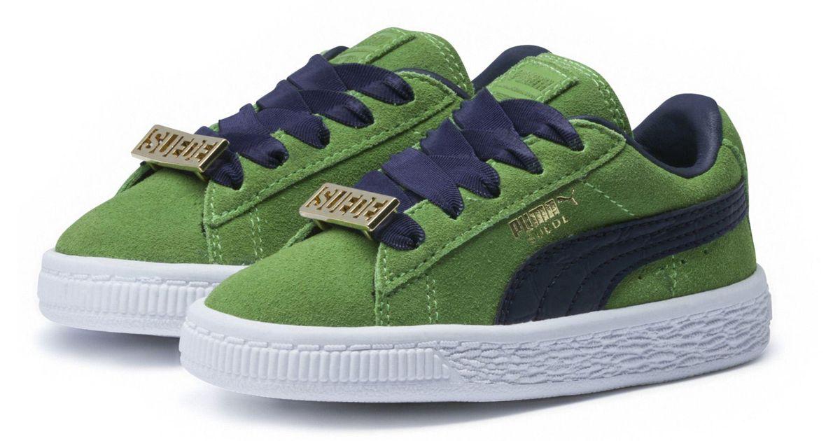 99e4107952ec PUMA Green Suede Classic B-boy Fabulous Baby Sneakers for men
