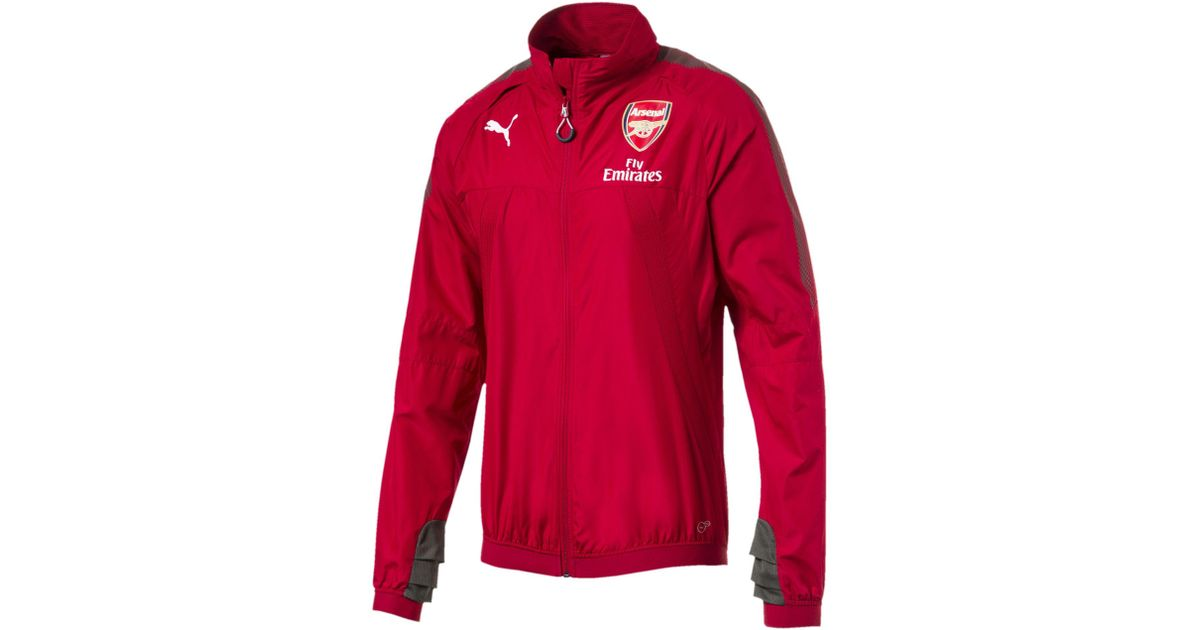 50bed3523acd Lyst - Puma Afc Men s Vent Thermo-r Stadium Jacket in Red for Men