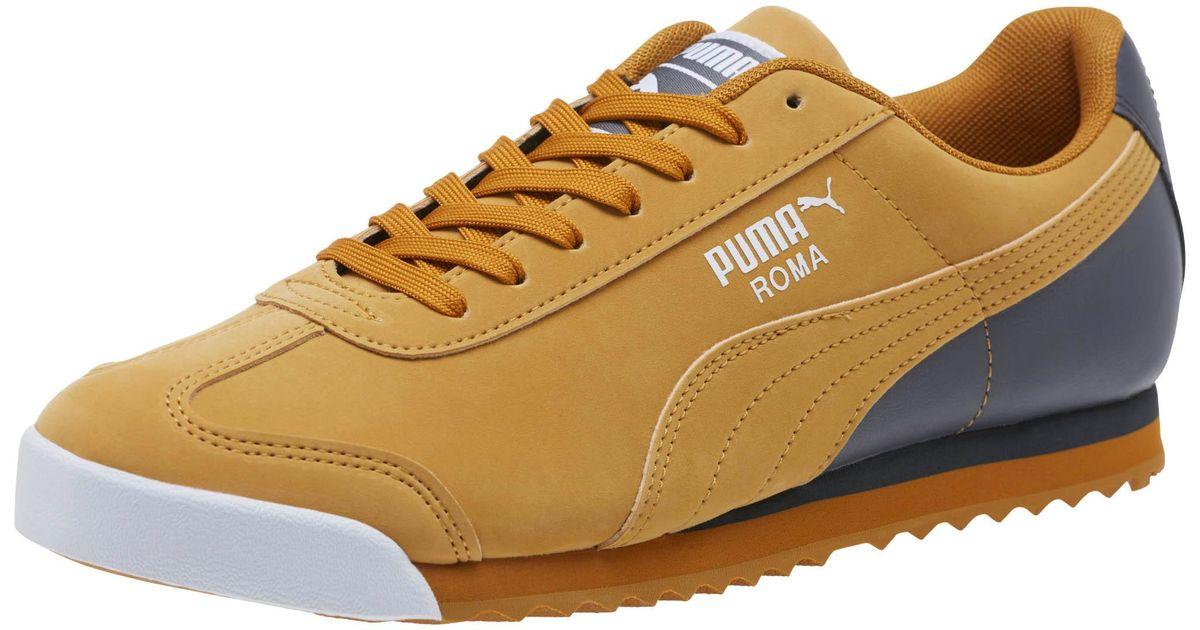Tierras altas cola Curiosidad  PUMA Roma Retro Sports Men's Sneakers in Brown for Men - Lyst