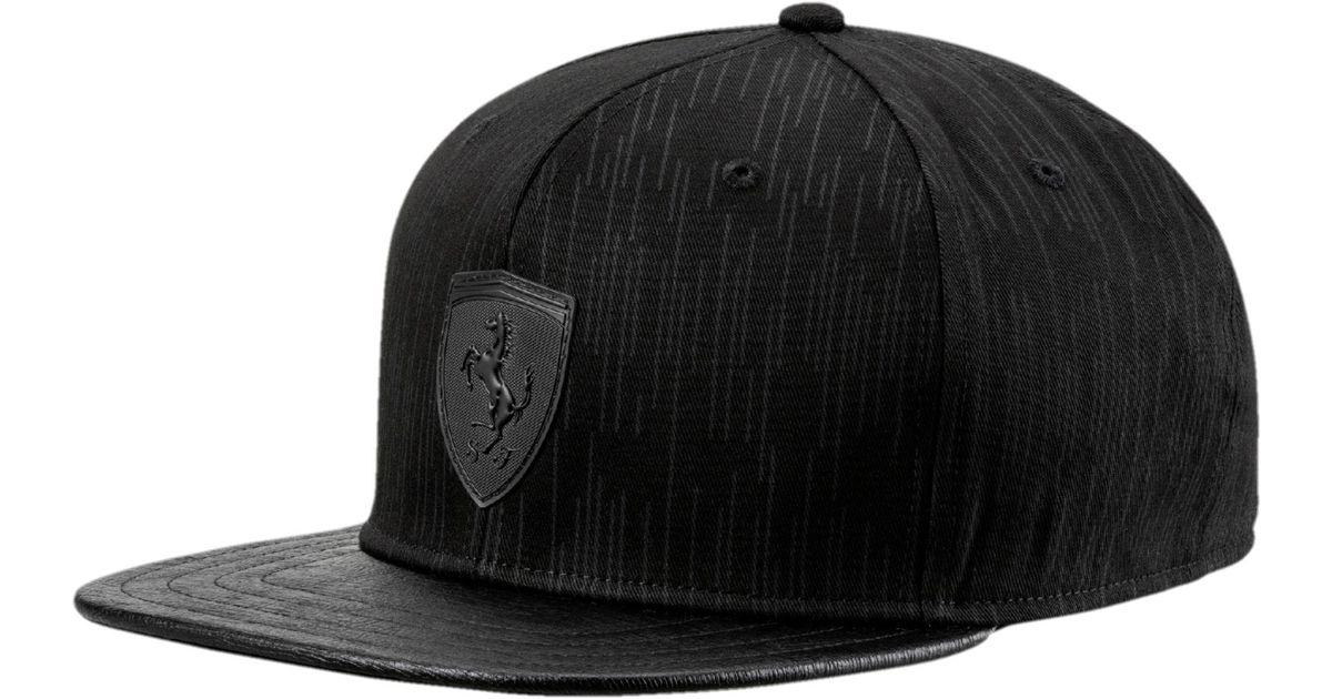 fec6290a91542 ... best lyst puma scuderia ferrari ls flatbrim hat in black for men 47502  853cc