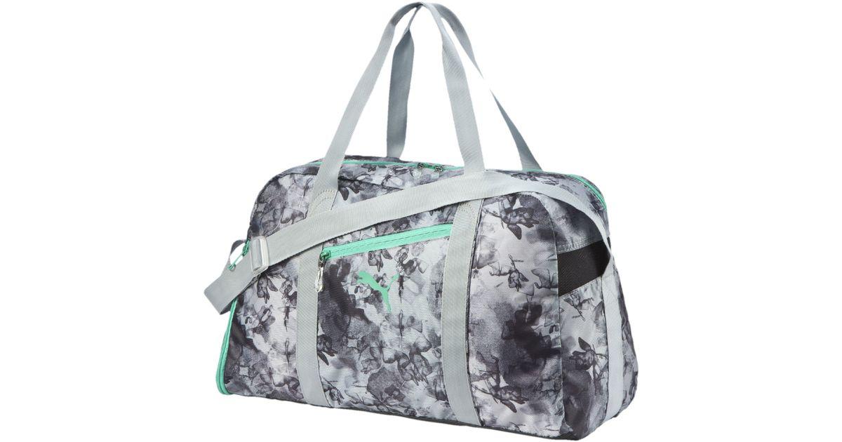 756f2426b4b52e PUMA Fit At Sports Duffel Bag in Gray - Lyst
