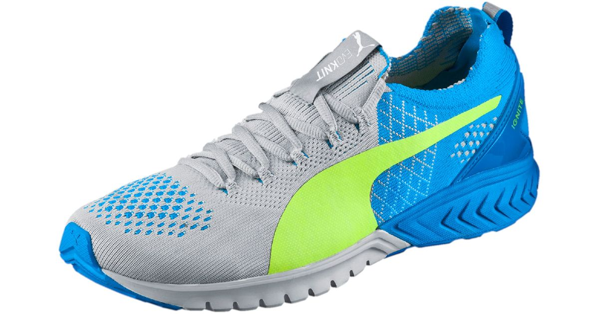 cc205de0b46 Lyst - PUMA Ignite Dual Evoknit Men s Running Shoes in Blue for Men