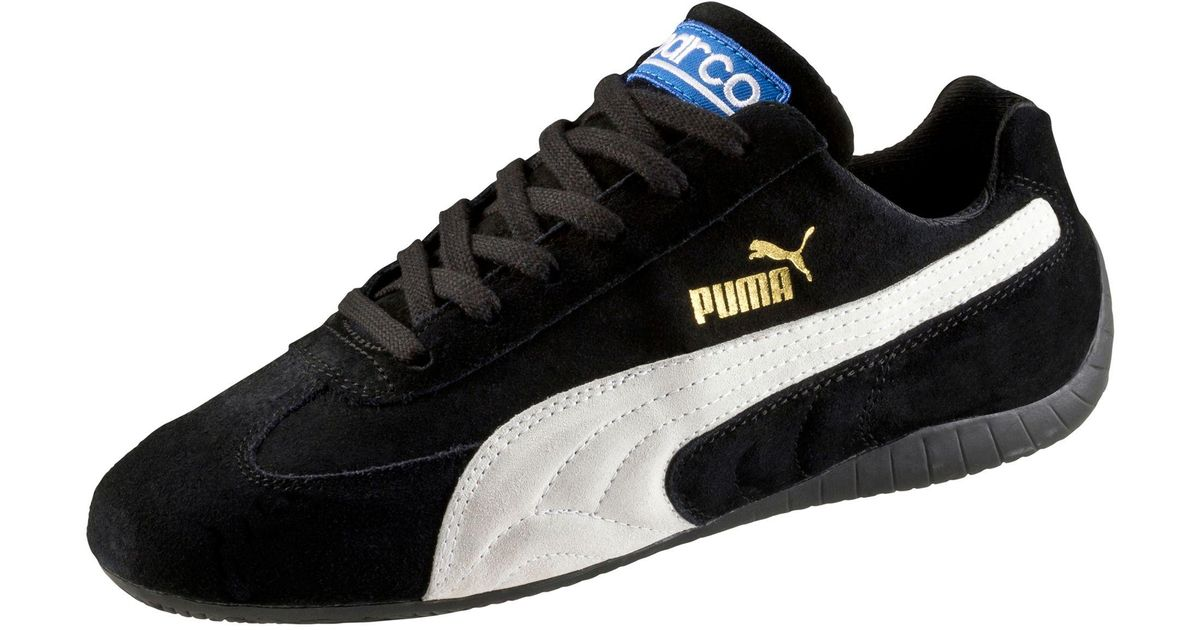 ... hot lyst puma speed cat sparco shoes in black for men d3410 6eef8 1d062f32f