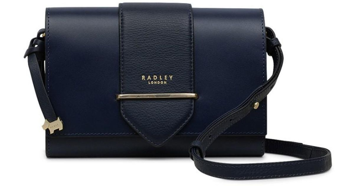 Radley Palace Street Small Flapover Cross Body Bag in Blue - Lyst 47d901fdc4af4