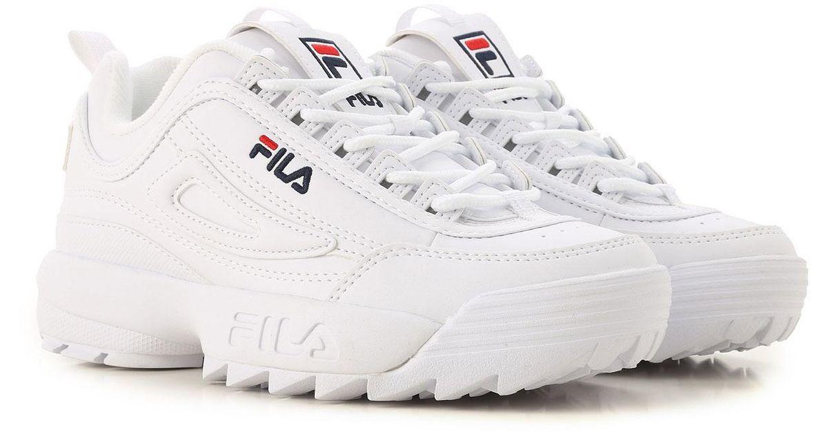 Fila White Sneakers For Women On Sale