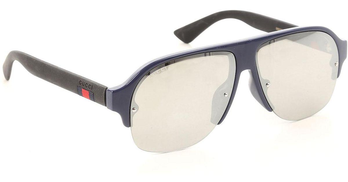 d967c21487a3d Lyst - Gafas y Lentes de Sol Baratos en Rebajas Gucci de hombre de color  Azul