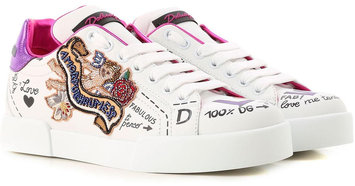 ed3b001a9cc1 Lyst - Dolce   Gabbana Sneakers For Women On Sale in White