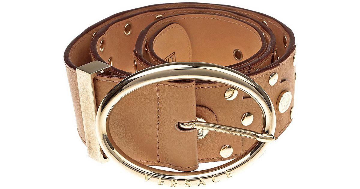 6604db17 Versace Brown Womens Belts