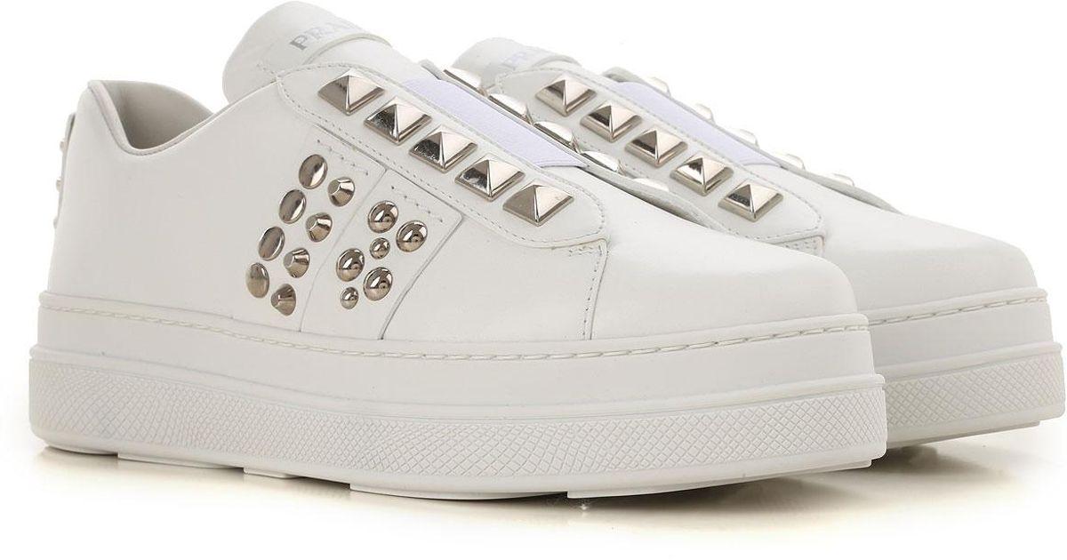 55bca3dc Prada White Shoes For Women