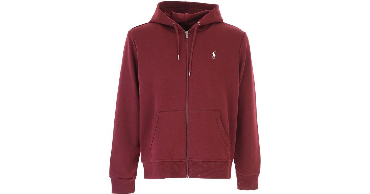 66d52a0a346fb Lyst - Ralph Lauren Sweatshirt For Men in Red for Men