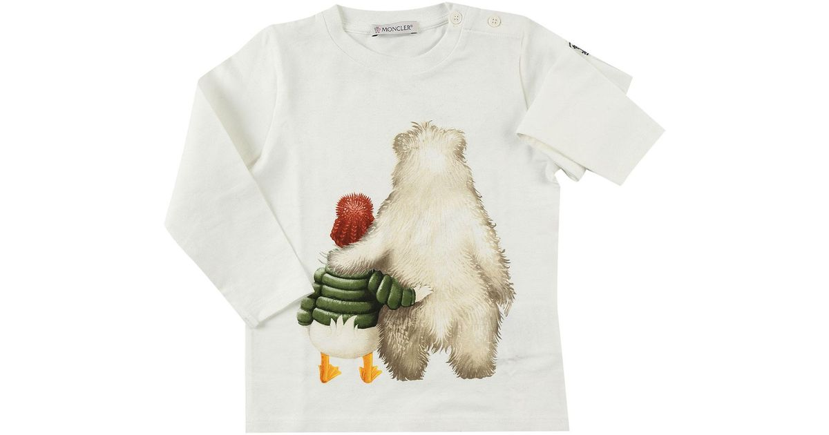 c441ce05f Moncler White Baby T-shirt For Boys On Sale In Outlet for men