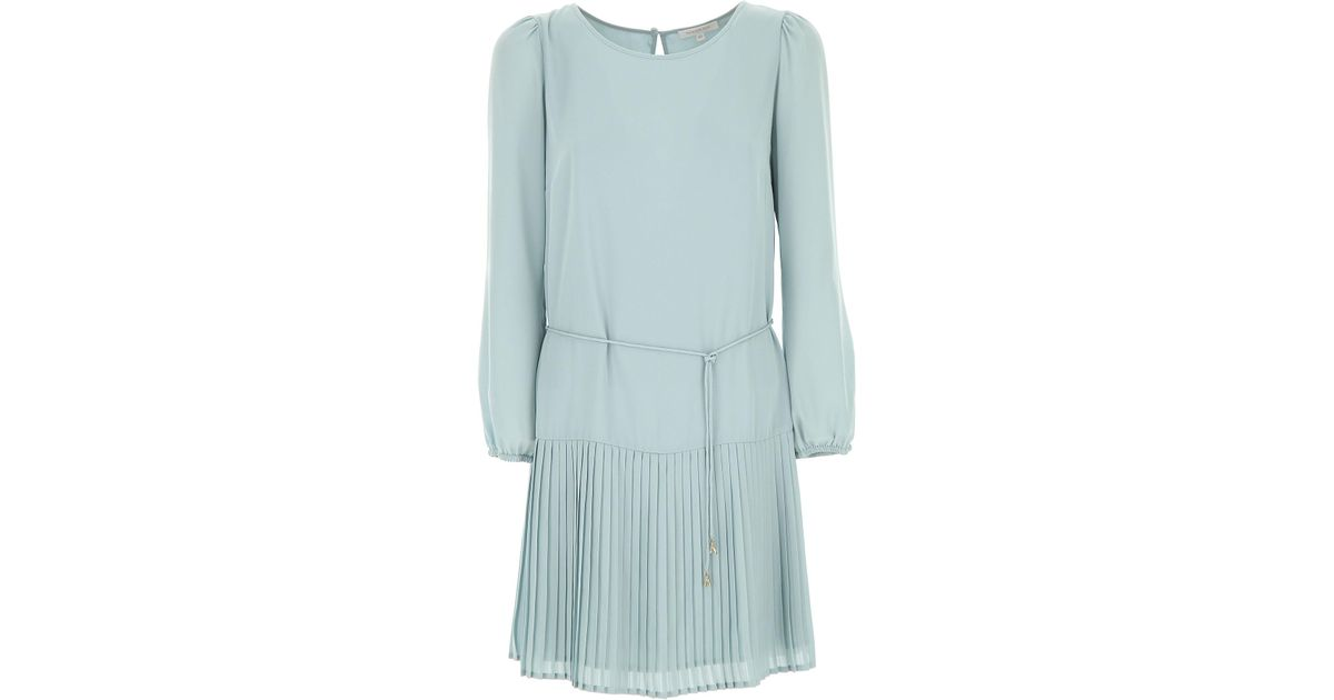 c9b33dfbadf Patrizia Pepe Light-blue Dress With Pleated Flounce in Blue - Save 26% -  Lyst