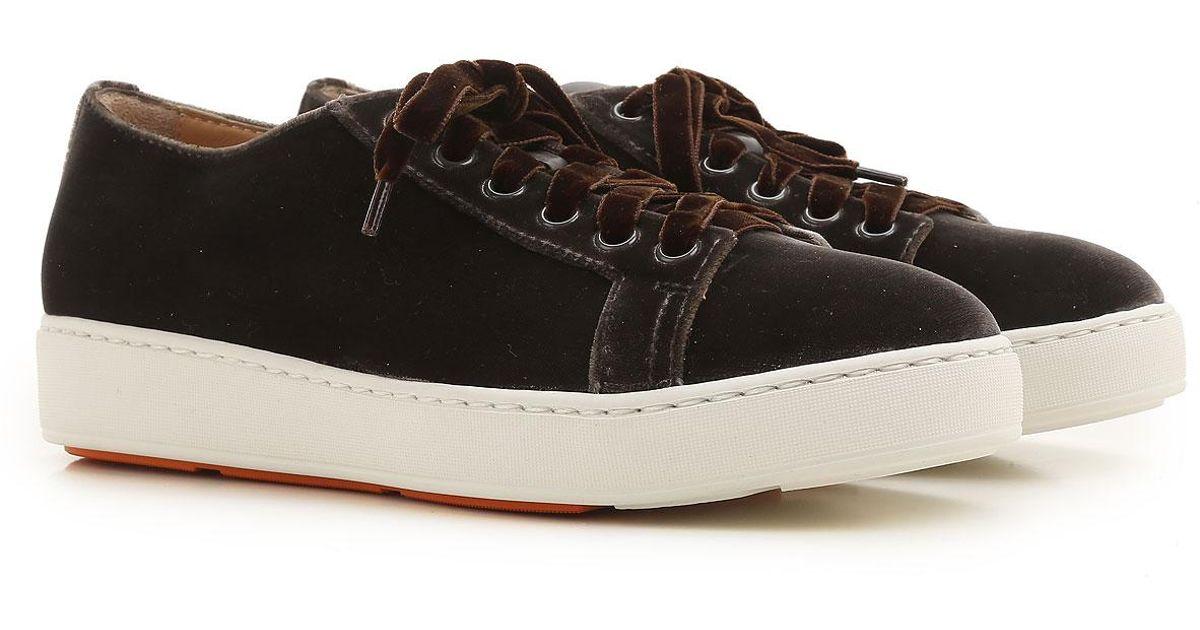 8bd303f1601 Lyst - Sneaker Femme Pas cher en Soldes Outlet Santoni en coloris Noir - 25  % de réduction