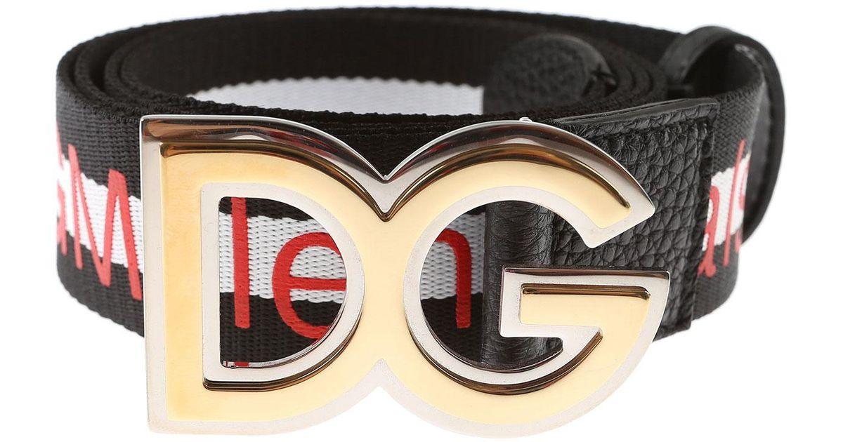 Lyst - Ceinture Femme Pas cher en Soldes Dolce   Gabbana en coloris Noir 3e11b02b435