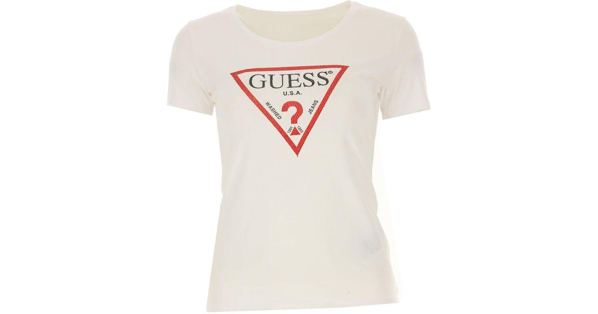 Guess surdimensionné vintage Triangle Logo T-shirt femme