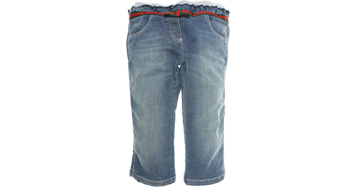 6b8c6c14a10e Lyst - Gucci Baby Jeans For Girls On Sale In Outlet in Blue