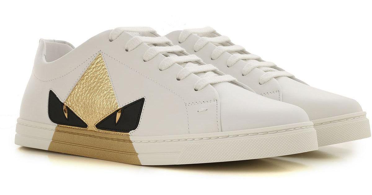 Fendi Shoes For Women in White - Lyst
