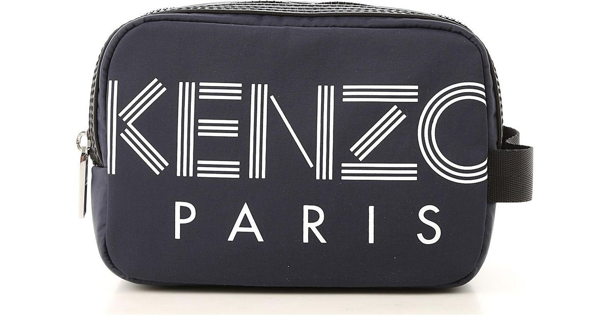 e42a4aa03 KENZO Toiletry Bag For Men On Sale in Blue for Men - Lyst