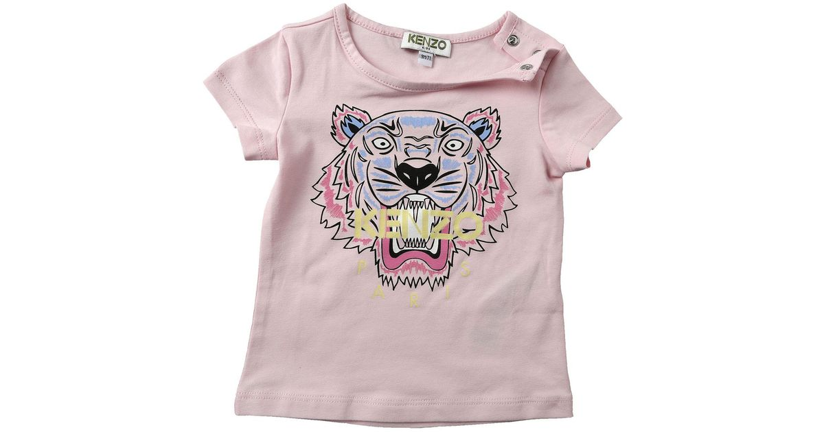 f53b0f65 KENZO Pink Baby T-shirt For Girls On Sale
