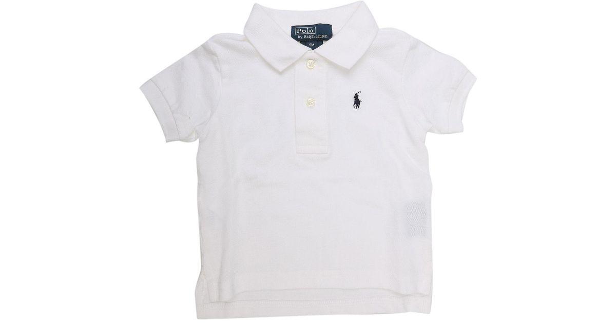 0f9c6ed318c Lyst - Polo Bébé pour Garçon Pas cher en Soldes Outlet Ralph Lauren pour  homme en coloris Blanc