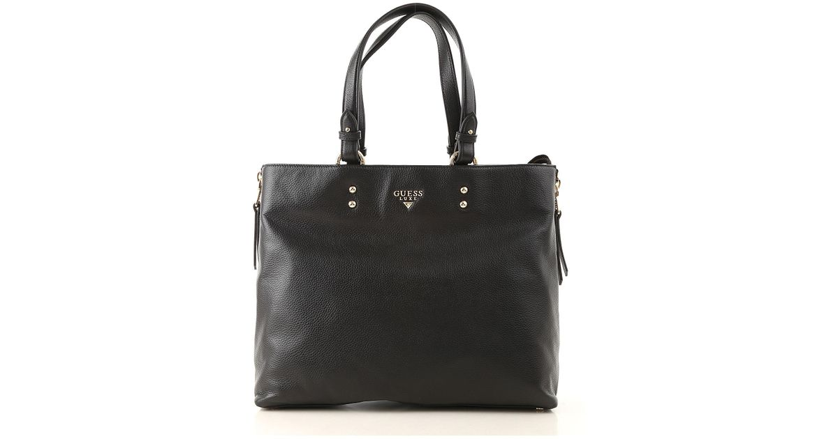Guess Black Tote Bag On Sale