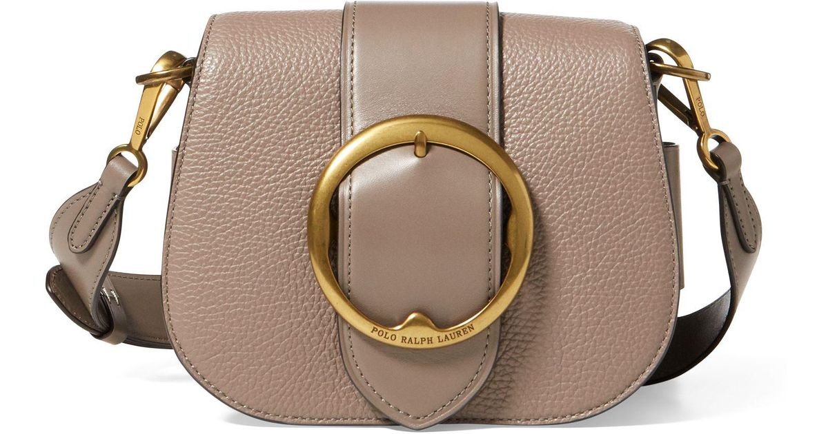 Polo Ralph Lauren Pebbled Leather Lennox Bag in Brown - Lyst 813f09e2a77bd
