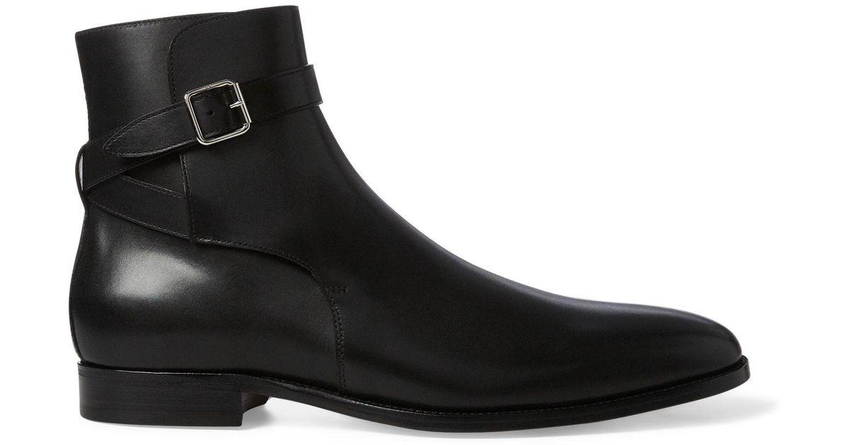 Ralph Lauren Leather Balen Dress Boot