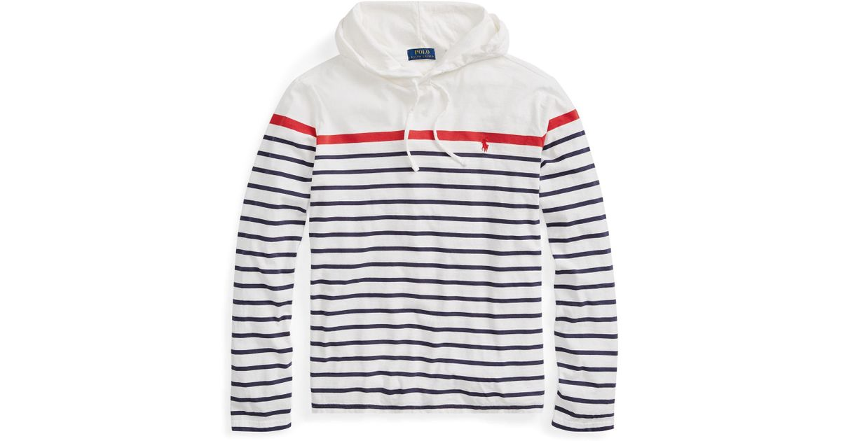 7a35c1bb913 Polo Ralph Lauren Cotton Jersey Hooded T-shirt in White for Men - Lyst