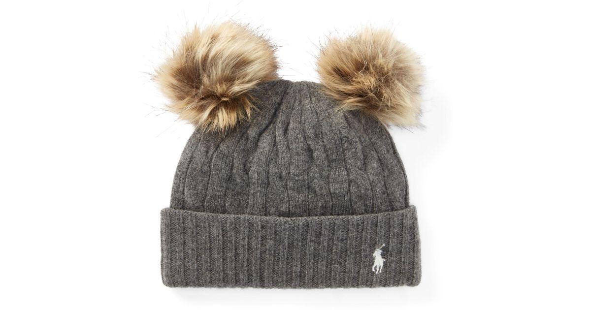5690edb9014 Lyst - Polo Ralph Lauren Double-pom-pom Wool Hat