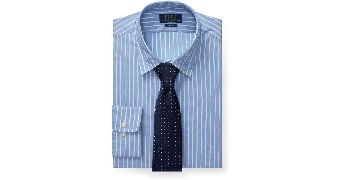 Polo Ralph Lauren Men's Moss Green Striped Poplin Shirt
