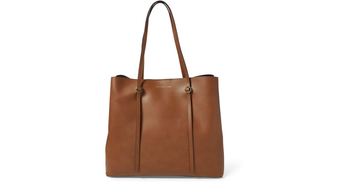 ... coupon code for polo ralph lauren leather mini lennox tote in brown  lyst 8f137 b81e8 94b2141620e28