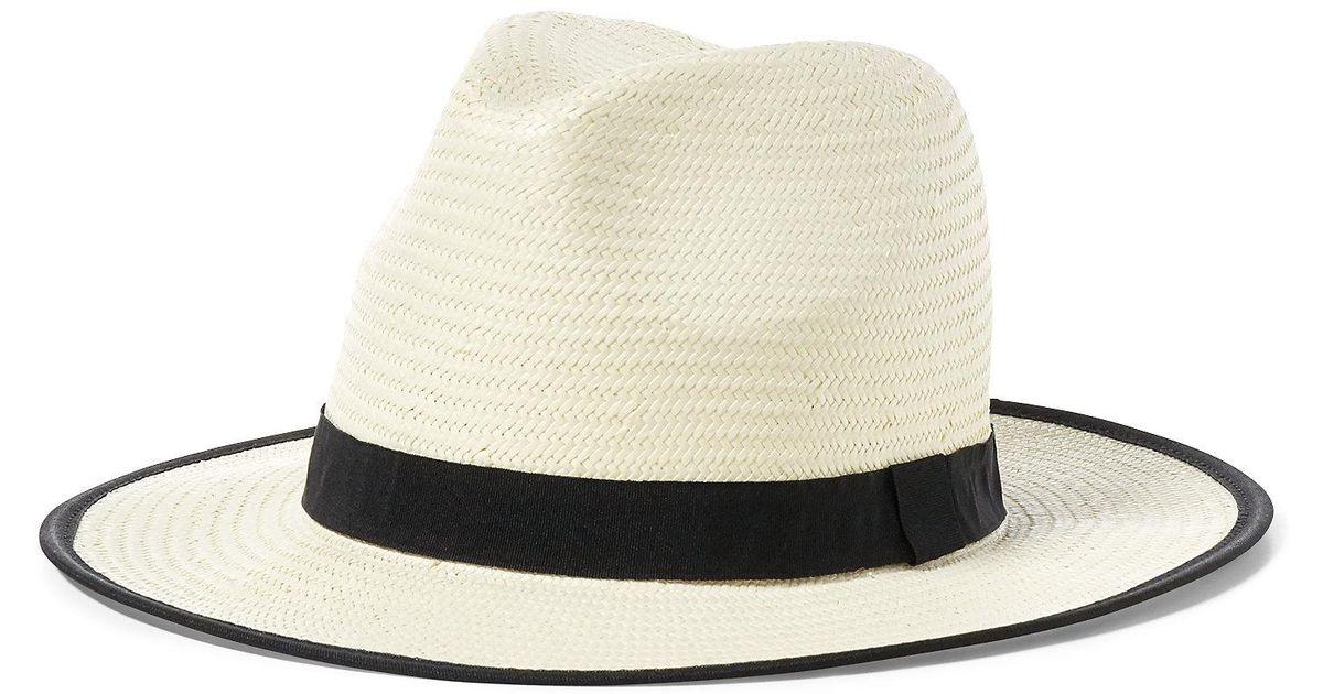 Lyst - Polo Ralph Lauren Hand-woven Straw Panama Hat in White