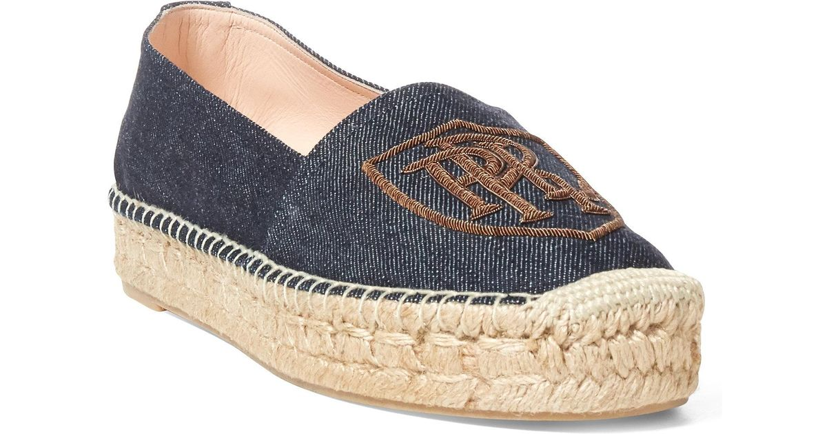 13862f85091 Lyst - Polo Ralph Lauren Joanne Denim Espadrille in Blue