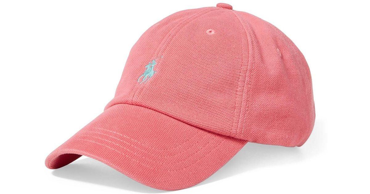 39c2be90 Polo Ralph Lauren Cotton Mesh Baseball Cap in Pink for Men - Lyst