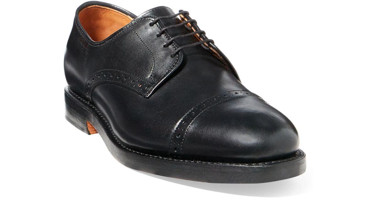 54f12d5096 Ralph Lauren Black Slaton Calf Cap-toe Shoe for men