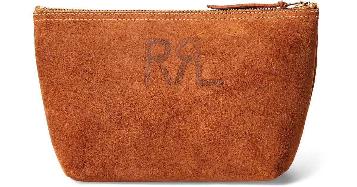 f80ae29dcf Lyst - Rrl Roughout Suede Pouch in Brown